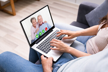 Couple In Video Conference Chat