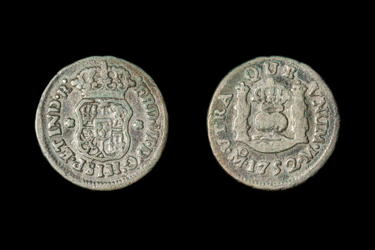 """A 1752 """"Picayune"""", a Spanish coin. It was legal tender in the US until 1857 and was often used in place of a nickel."""