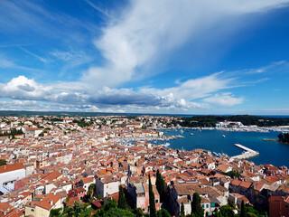 Rovinj, Istria, Croatia, the Church of Santa Eufemia, seen from the bell tower Fototapete
