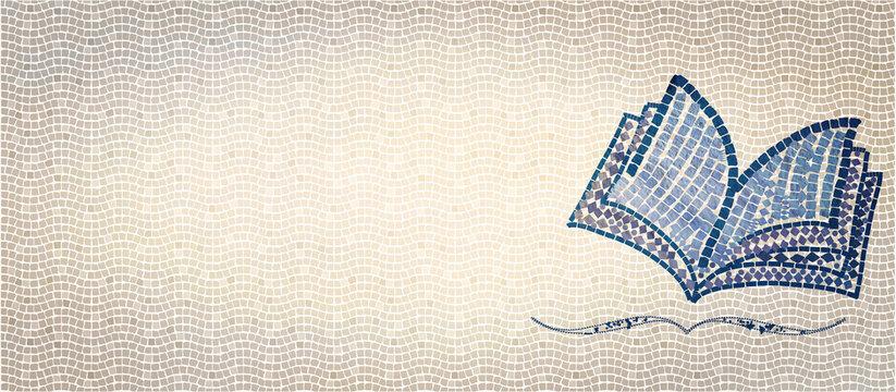 Bible mosaic. Christian banner