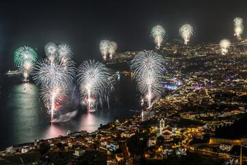 Fotomurales - Firework Display At Night