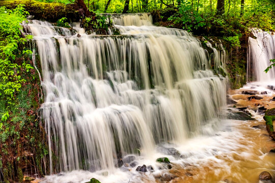gorgeous waterfall at City Lake  Natural Area in Cookeville, Tennessee