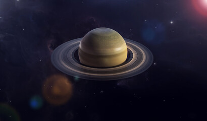 Saturn planet in the universe. Planet with rings is called saturn.
