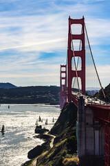 gorgeous afternoon on San Francisco Bay near the Golden Gate Bridge