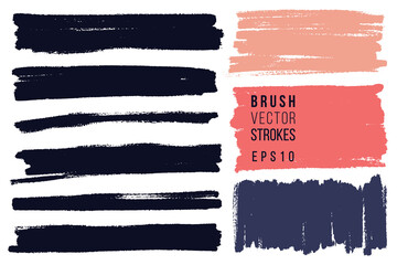 Hand painted various shapes for backdrops. Vector textured different color elements for designs. Simple textured backgrounds.