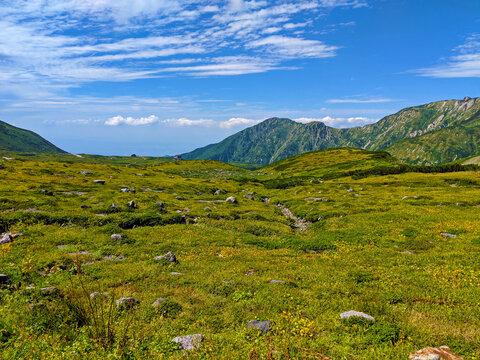 Mount Tateyama in the Summer