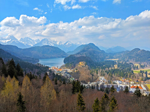 Winter and Spring at Neuschwanstein Castle