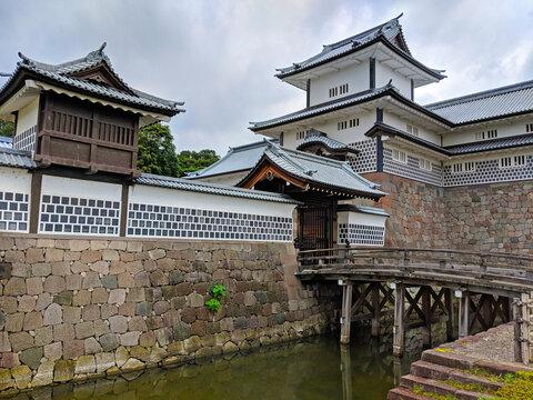 Moat and Bridge at Kanazawa Castle