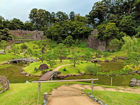 Garden at the Base of Kanazawa Castle