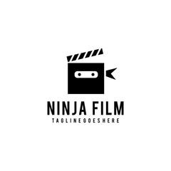Creative modern ninja film logo design