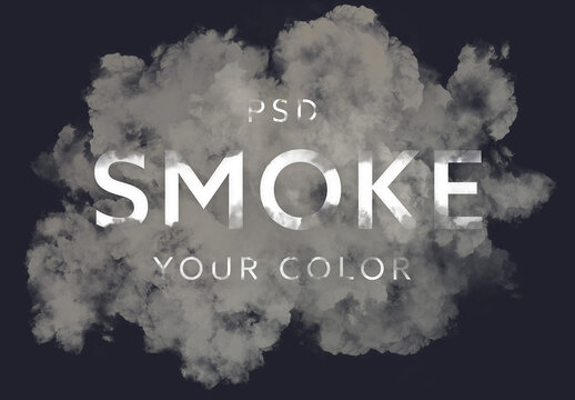 Smoke Text Effect Mockup