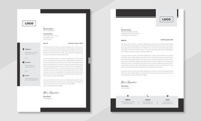 Minimalist concept business style letterhead template design. Professional & modern letterhead template design with geometric shapes. Vector graphic design.