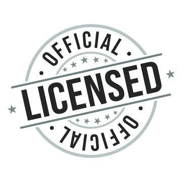 Licensed Official. Quality Original Stamp. Design Vector. Art Round Seal.