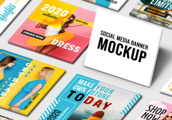 Social Media Post Set Mockup