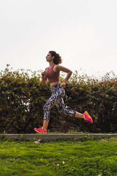 fitness Woman Running Outdoors