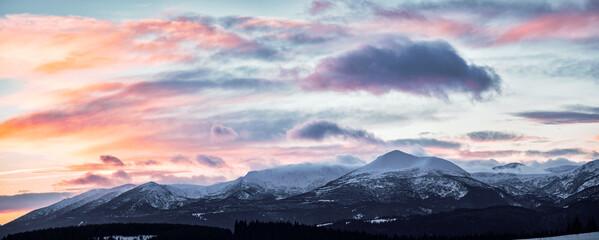 Amazing winter sunset