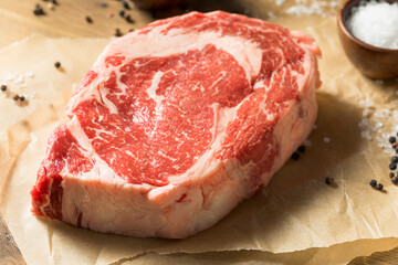 Wall Mural - Raw Grass Fed Ribeye Steak