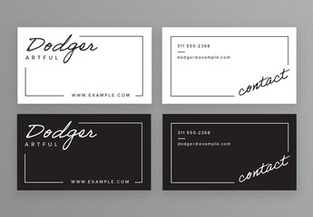 Minimalistic Business Card Layouts