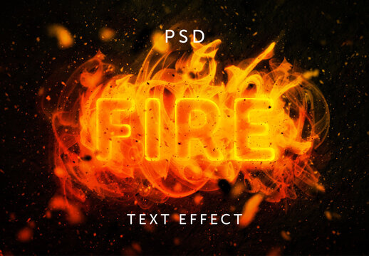 Flames and Fire Text Effect