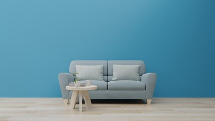 Fototapeta Empty Sofa And Table On Floor At Home obraz