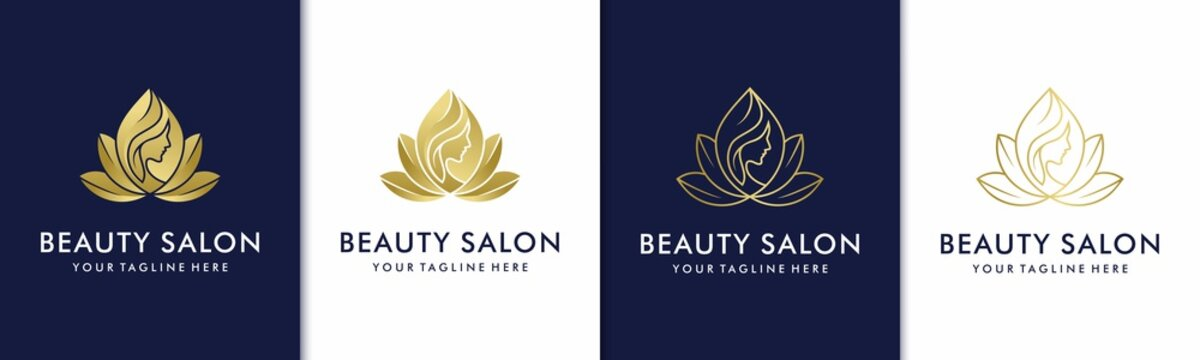 flower beauty logo design inspiration for salon spa skin care and product beauty