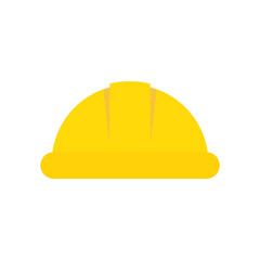 Hard hat flat, construction hard hat icon, vector illustration isolated on white background