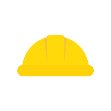 Hard hat flat, construction hard hat icon, vector illustration isolated on white background