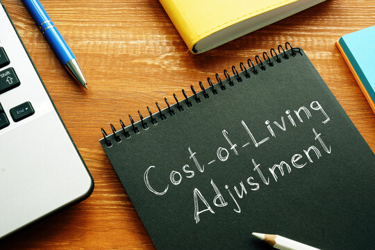 Cost-of-Living Adjustment COLA is shown on the conceptual business photo