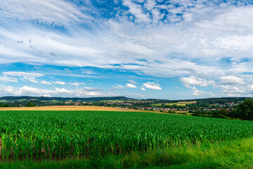 Nature, fields, forests in Germany, Bavaria Kups