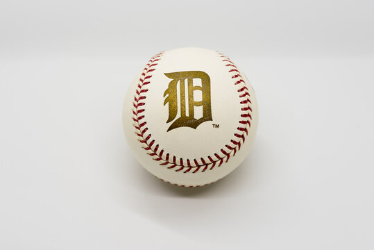 Detroit Tigers Logo on the 2006 World Series Baseball Isolated on White. 102nd edition of the World Series Between the St. Louis Cardinals and Detroit Tigers