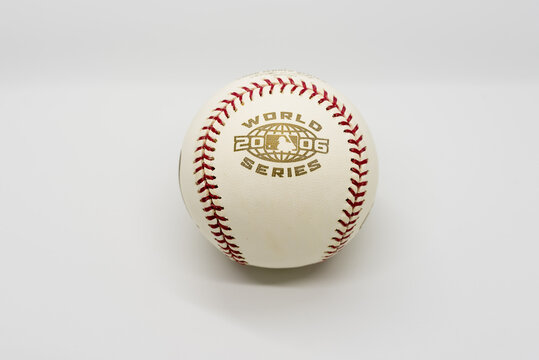2006 World Series Baseball Isolated on White. 102nd edition of the World Series Between the St. Louis Cardinals and Detroit Tigers