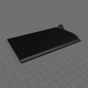 Drawing tablet with stylus