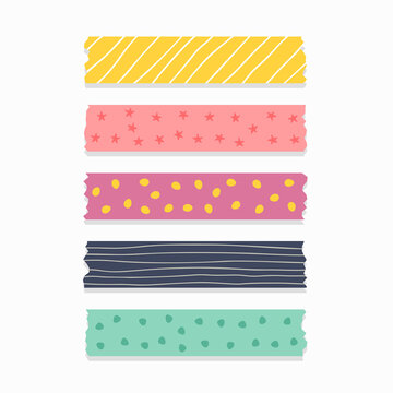 cute patterned ribbon or scrapbook tape set