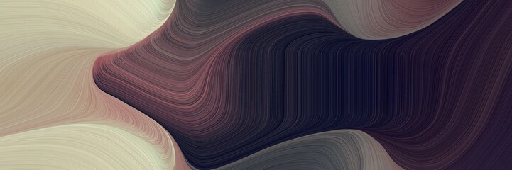 futuristic decorative waves backdrop with tan, very dark blue and pastel brown colors. can be used as header or banner