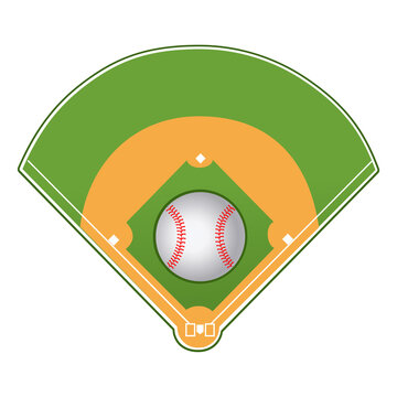 Basebal field and Ball
