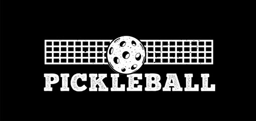 Pickleball vector illustration isolated on white background