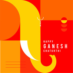 festival celebration happy ganesh chaturthi graphic composition colorful