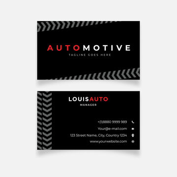 Trail wheels design business card template
