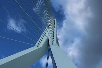Photo sur Aluminium Rotterdam Top of the Erasmus bridge, Rotterdam, The Netherlands