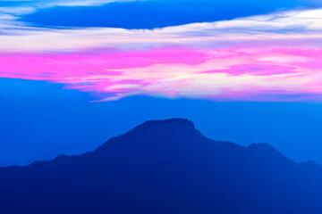 spain, canary islands, la palma : pico de la cruz at twilight