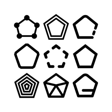 pentagon icon or logo isolated sign symbol vector illustration - high-quality black style vector icons