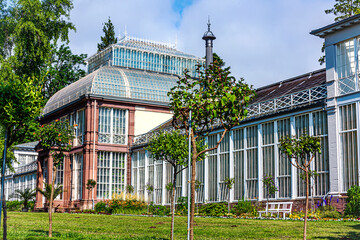 Kassel, Germany- the Greenhouse in the immediate vicinity of Wilhelmshoehe Palace in Castle Park .Today it is used as an astronomy and physical cabinet.