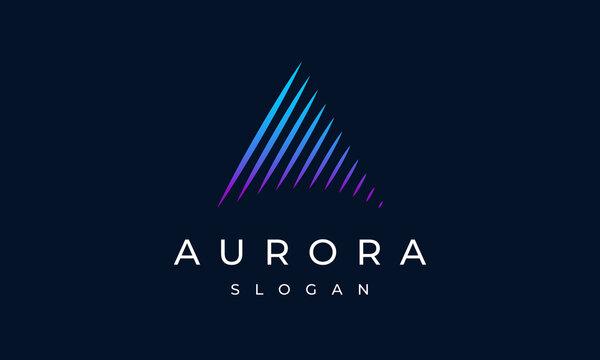 Aurora Letter A Logo Design