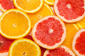 Wall Murals Slices of fruit citrus fruit background