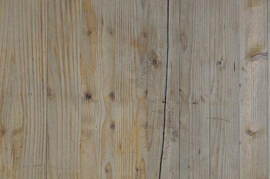 sfondo legno, tavola rovinata, con taglio e nodi, striature reali non uniformi