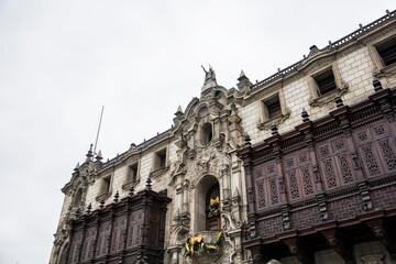 Archbishop's Palace of Lima in Peru