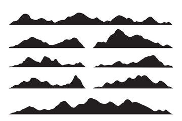 Tuinposter Wit vector silhouette of mountains
