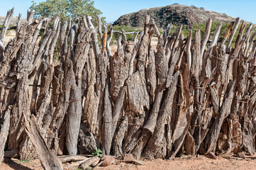 Traditional fence at the Damara Living Museum in Damaraland