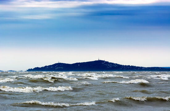 Stormy wind at Lake Balaton, Hungary ( Baltonmária )