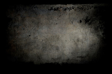abstract background on canvas texture with blackgrunge frames
